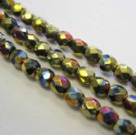 Czech Fire Polished Beads - 4mm - Crystal California Violet (50)